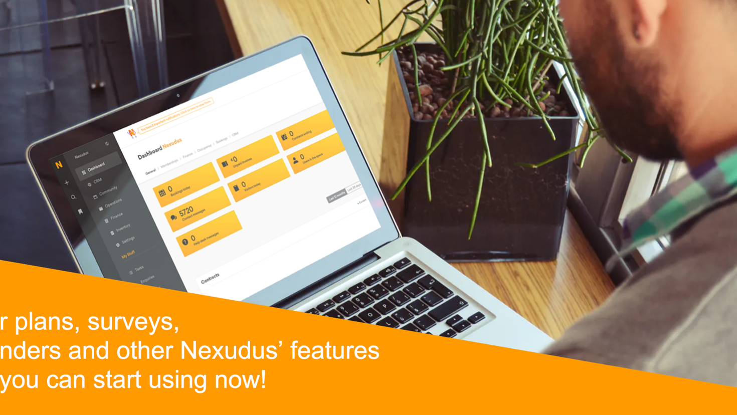 Floor plans, surveys, birthday reminders and other Nexudus' features that you can start using now!