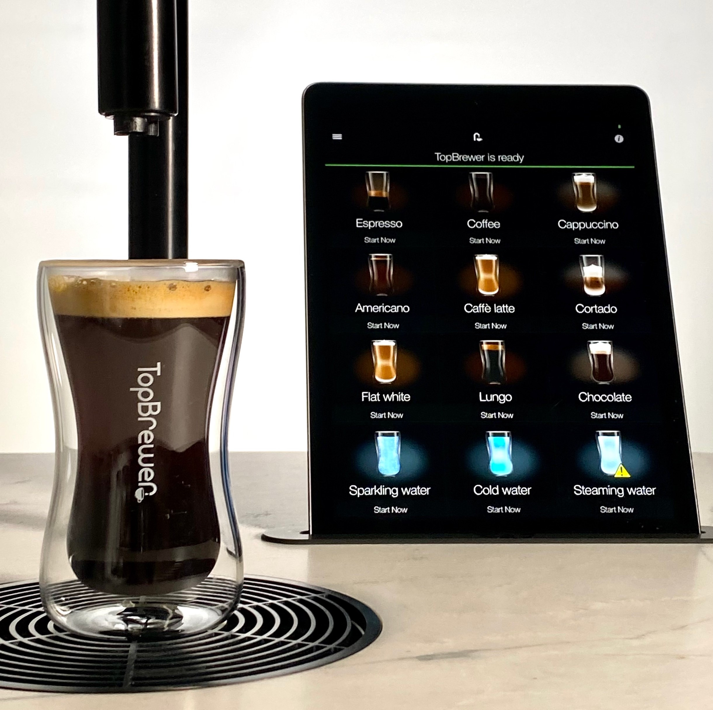 TopBrewer beverage selection screen