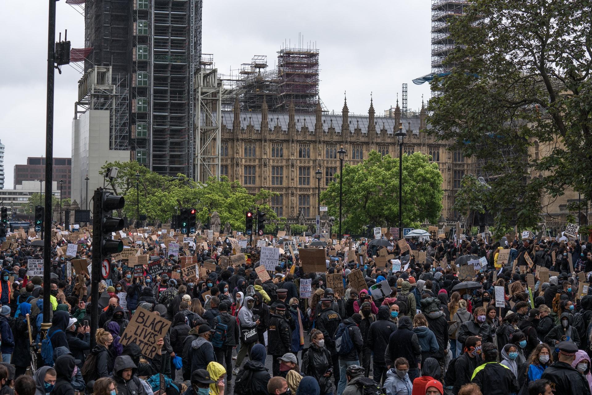 BLM protests in London 2020. Photo by @eadesstudio via Unsplash