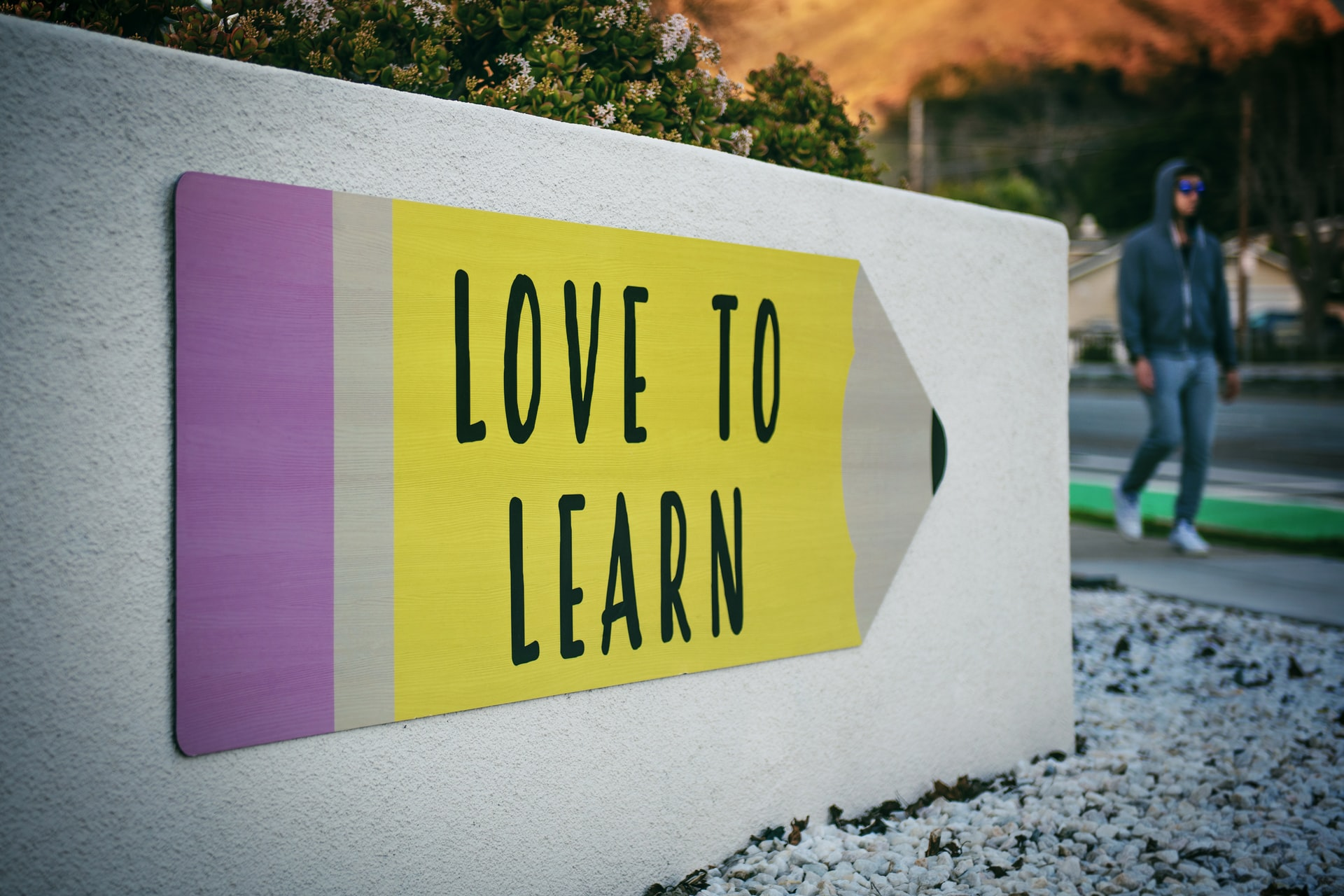 'Love to Learn' sign. Photo by @timmossholder via Unsplash